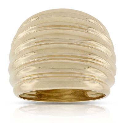 Toscano Collection Fluted Ring 18K