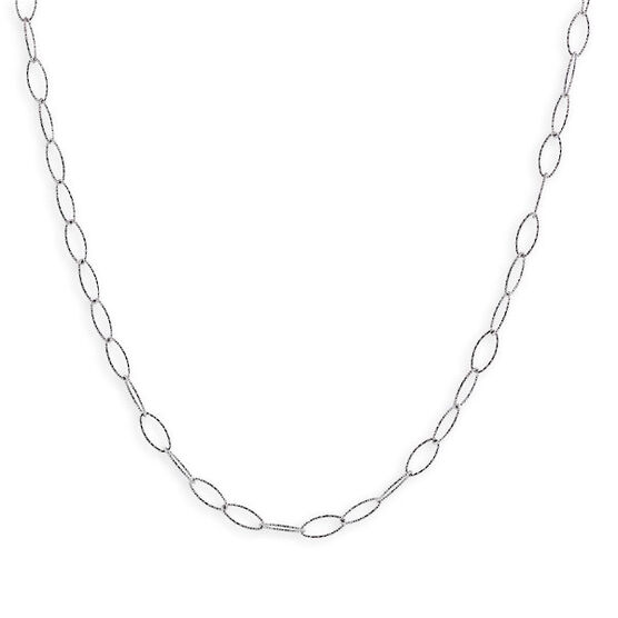 Diamond Cut Oval Link Chain in Sterling Silver