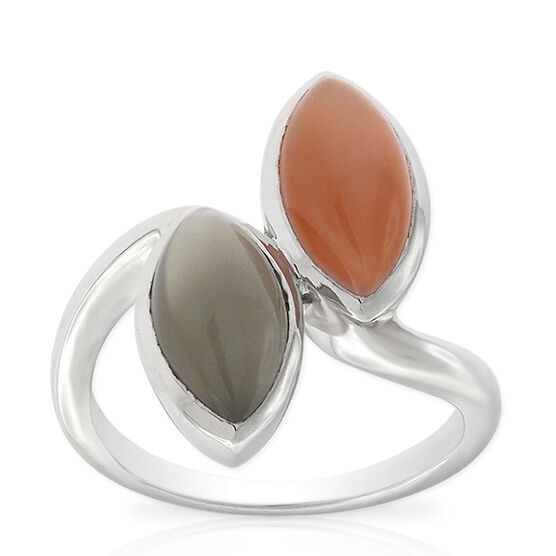 Lisa Bridge Double Moonstone Bypass Ring