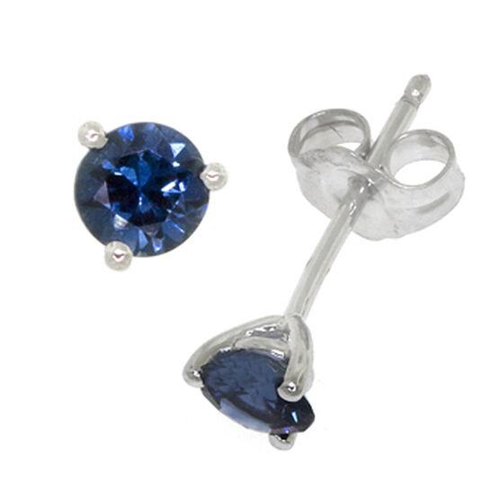 Sapphire Earrings 14K