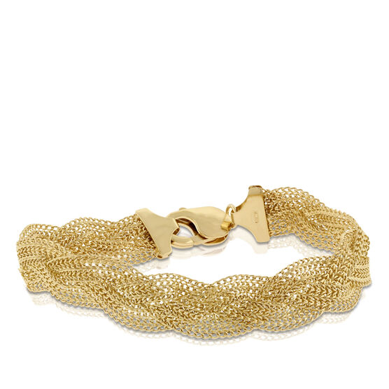 Toscano Collection Braided Bracelet 14K
