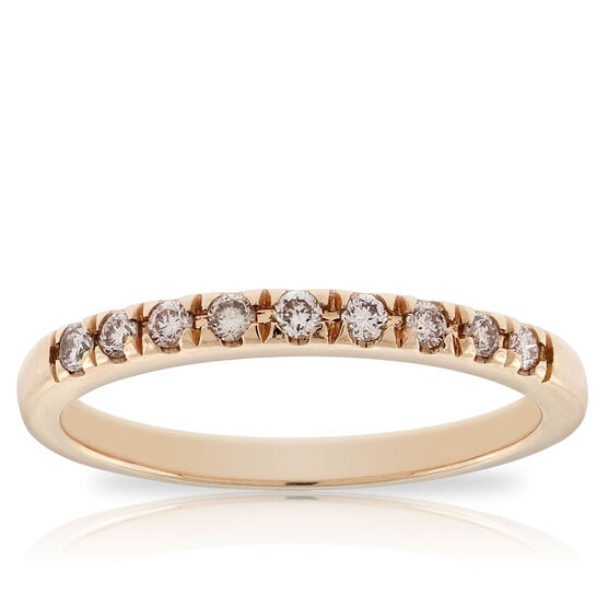Rose Gold Pink Diamond Band 14K