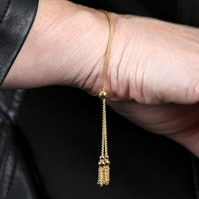 Tassel Bolo Bracelet 14K
