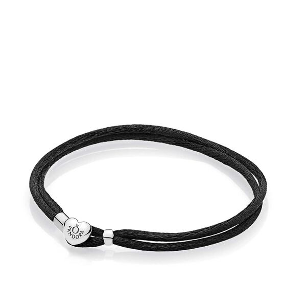 PANDORA Black Fabric Cord Bracelet