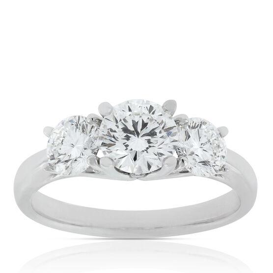Signature Forevermark Three-Stone Diamond Ring 18K