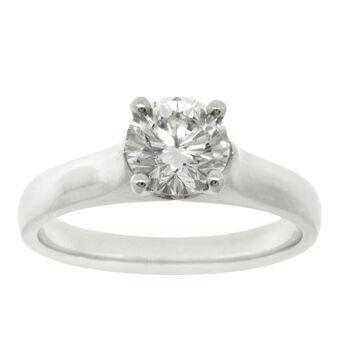 ben bridge signature diamond ring in platinum 1 ct