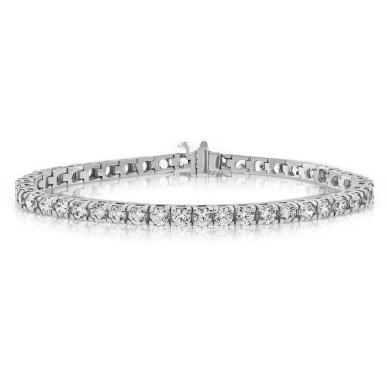 Diamond Line Bracelet, 14K, 7 ctw.