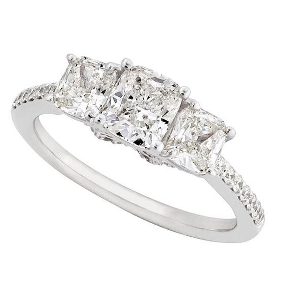 Cushion Cut Diamond Ring 14K