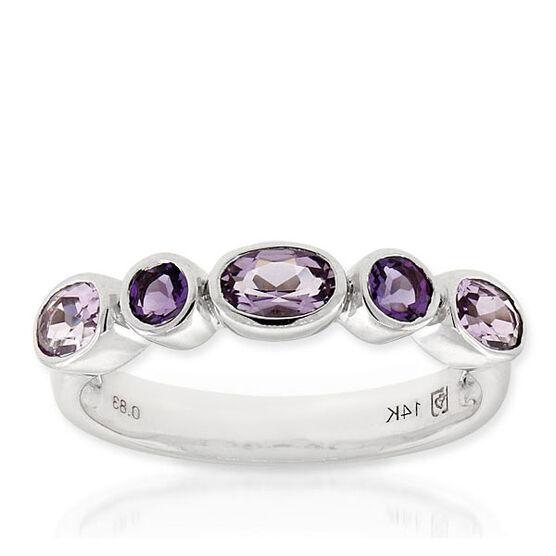 Amethyst Ring 14K