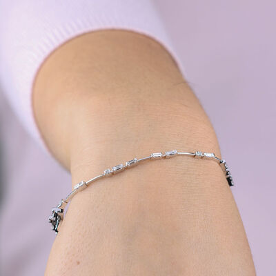 ICE FALL Baguette Cut Diamond Bracelet 14K