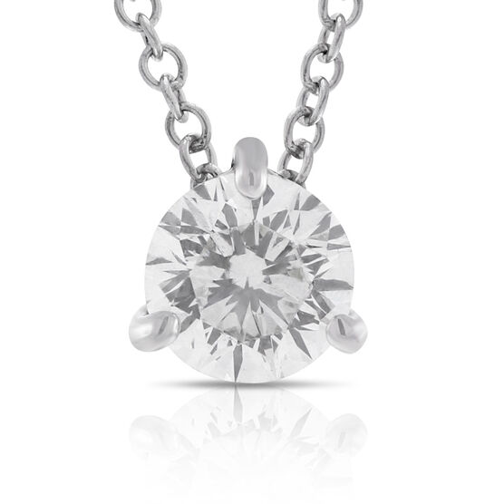 Signature Forevermark Diamond Pendant 18K White Gold 1/2 Carat