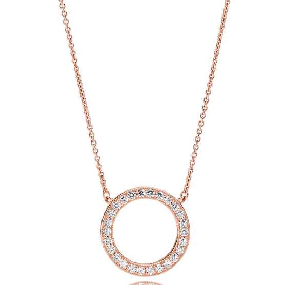 PANDORA Rose™ Hearts of PANDORA CZ Necklace