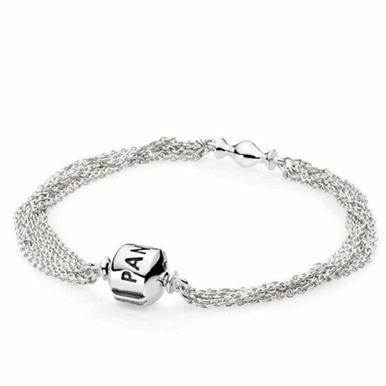 PANDORA Multi-Strand Clip Bracelet