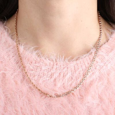 Rose Gold Curb Chain 14K