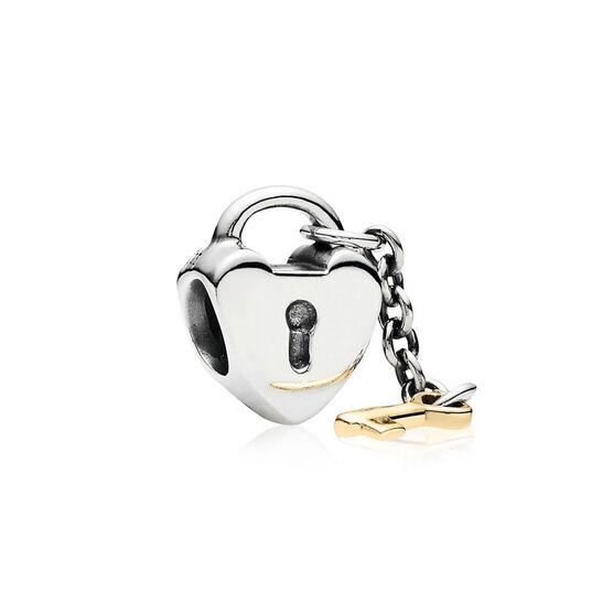 PANDORA Key To My Heart Charm, Silver & 14K
