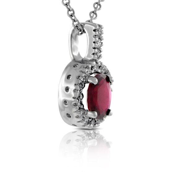 Ruby & Diamond Pendant 14K