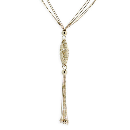 Toscano Collection Lariat Necklace 14K