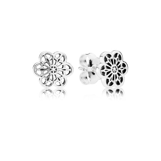 PANDORA Floral Daisy Lace Earrings