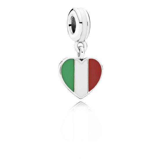 PANDORA Italy Heart Flag Charm