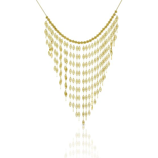 Dangle Bib Necklace 14K
