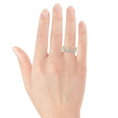 Diamond Crown Ring in Yellow Gold 14K