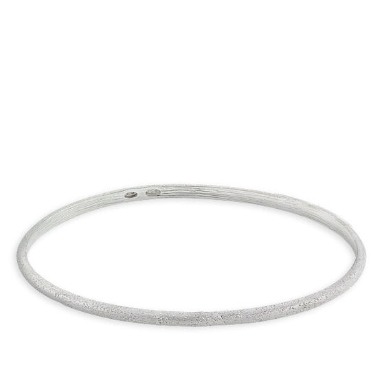 Oval Bangle Bracelet in Sterling Silver