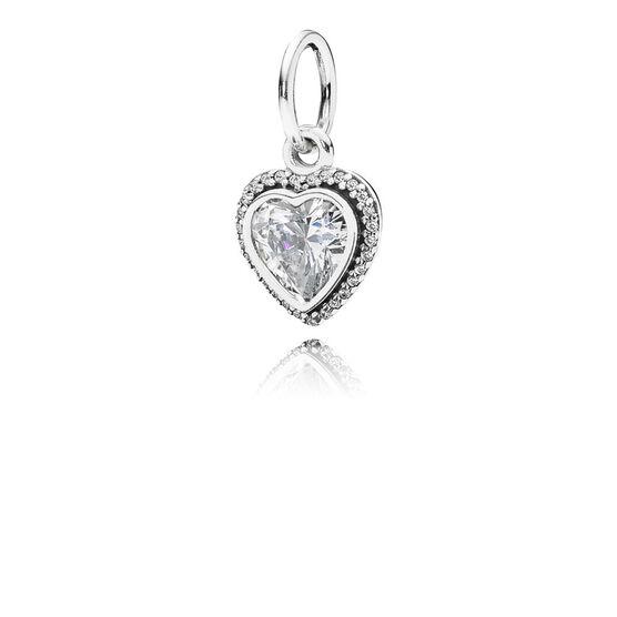 PANDORA Sparkling Love Heart Charm