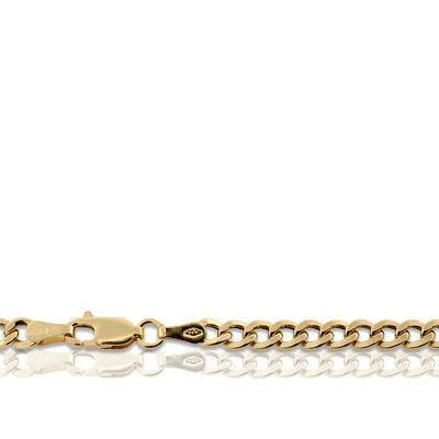 "Flat Curb Link Chain 14K, 18"""