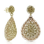 Toscano Woven Earrings 14K