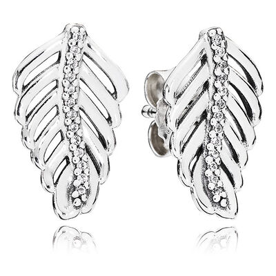 PANDORA Shimmering Feathers Earrings