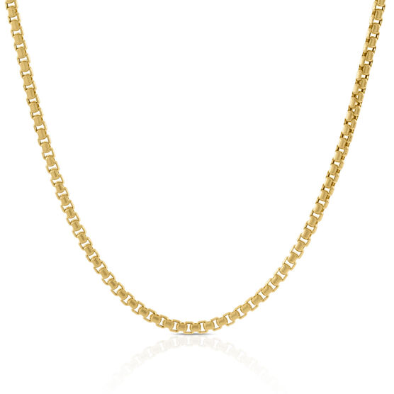 Toscano Collection Venetian Box Chain 14K, 24""