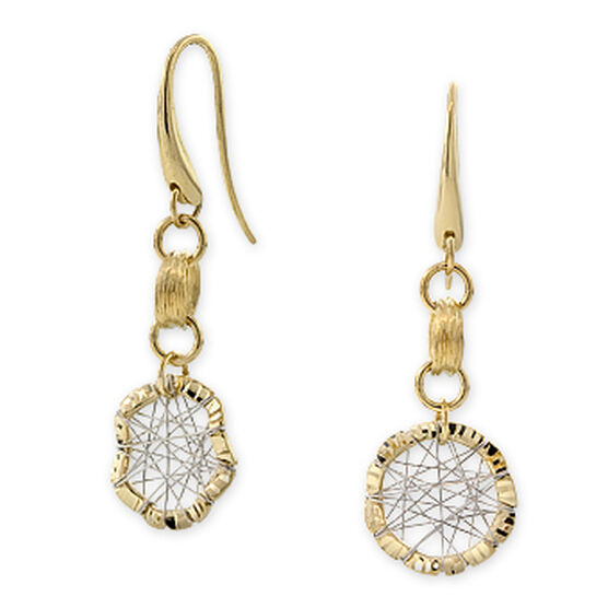 Toscano Collection Wire Web Earrings 18K