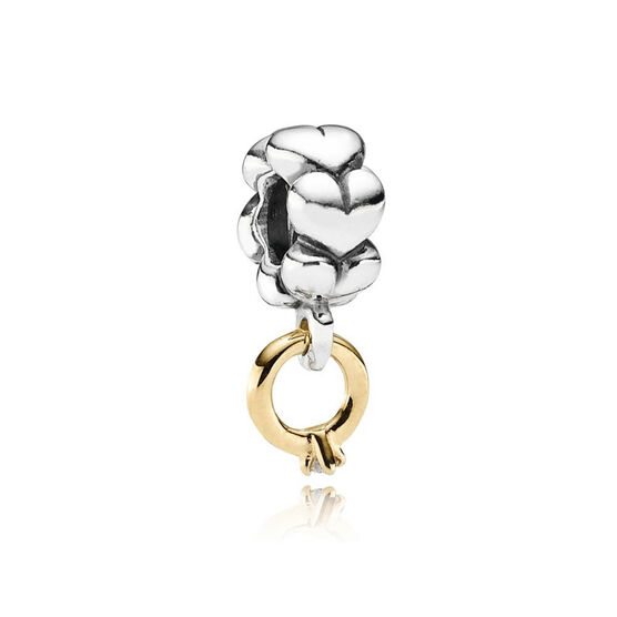 PANDORA I Do Diamond Charm, Silver & 14K