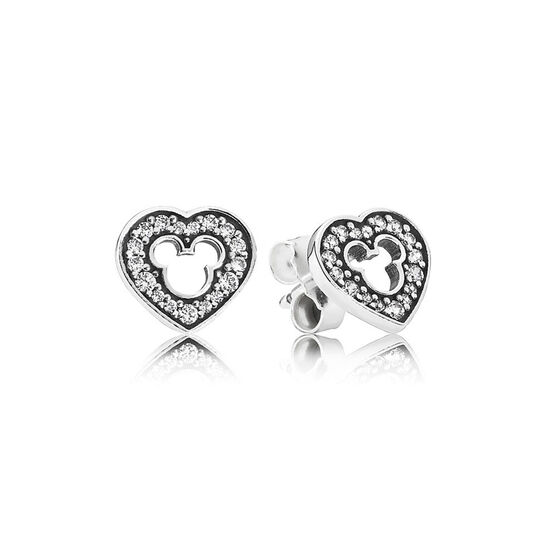 PANDORA Disney Mickey Silhouette Earrings