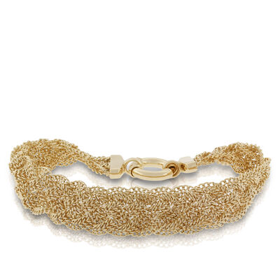 Toscano Collection Braided Five-Strand Bracelet 18K