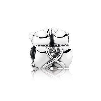 PANDORA Purrfect Together Charm