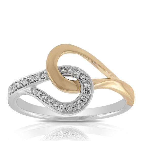 Interlocking Diamond Ring 14K