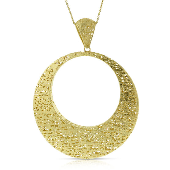 Toscano Collection Circle Pendant 14K