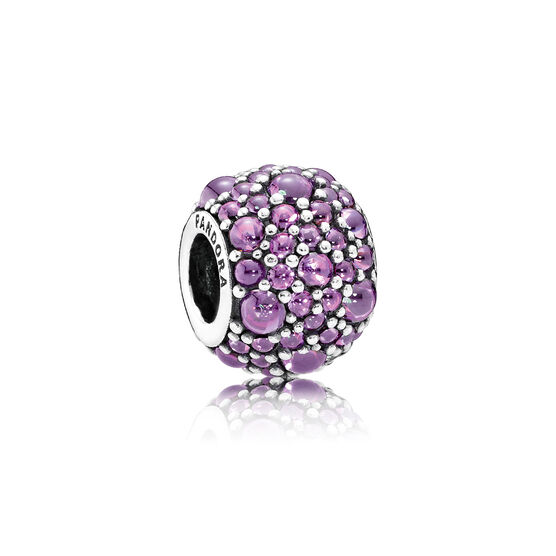 PANDORA Purple Shimmering Droplets Charm