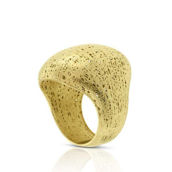 Toscano Textured Ring 18K