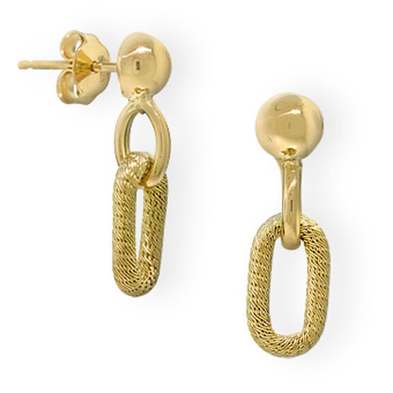 Toscano Collection Link Earrings 18K