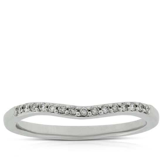 Diamond Contour Wedding Band 14K