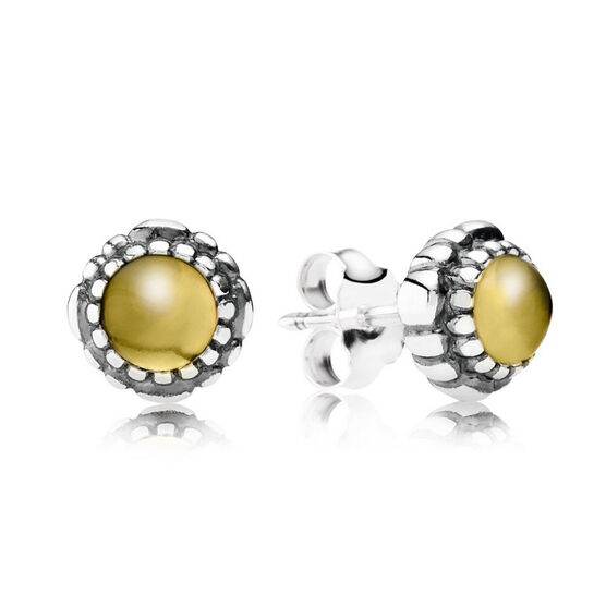 PANDORA Birthday Blooms November Earrings