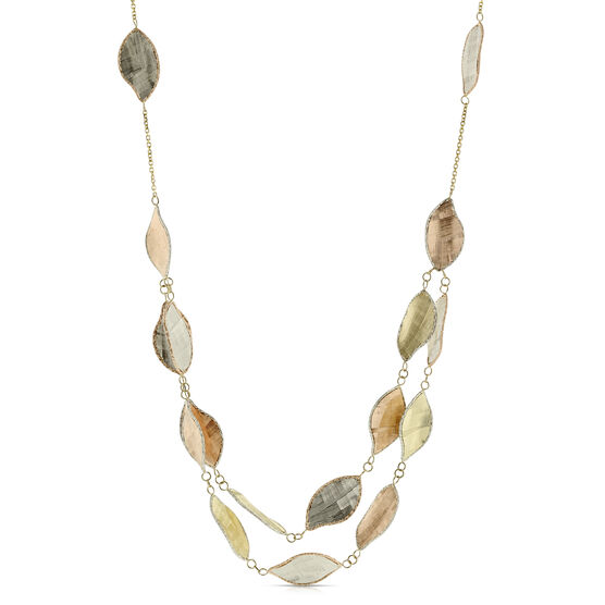 Toscano Collection Leaf Stations Necklace 14K