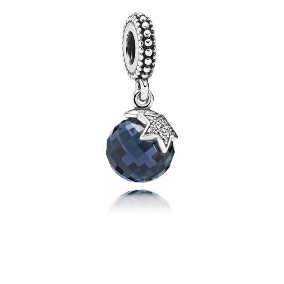 PANDORA Moon & Star Midnight Blue CZ Charm