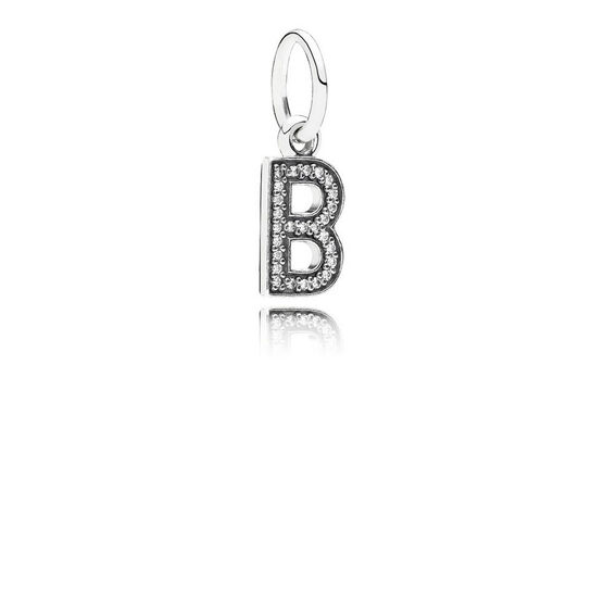 PANDORA CZ Dangle 'B' Charm