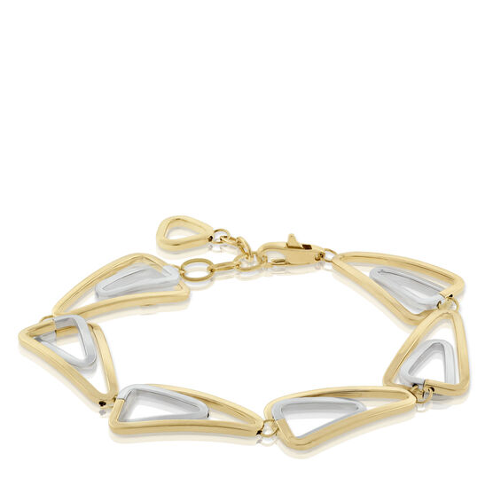 Toscano Collection Double Link Triangle Bracelet 18K