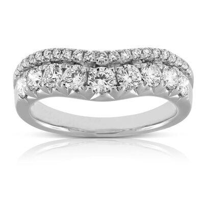 contour diamond band 14k - Wedding Anniversary Rings