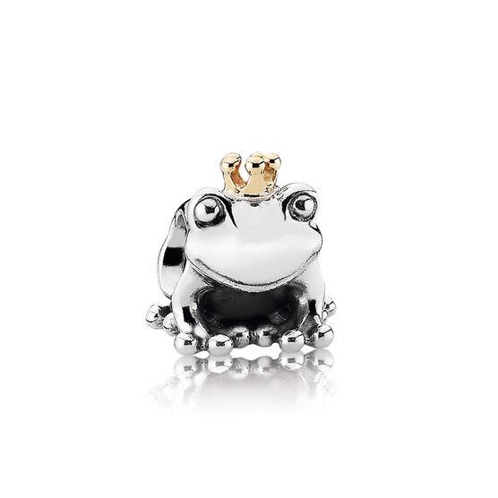 PANDORA Frog Prince Charm, Silver & 14K