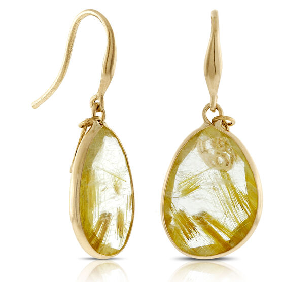 Lisa bridge golden rutilated quartz earrings 14k ben for Golden rutilated quartz jewelry
